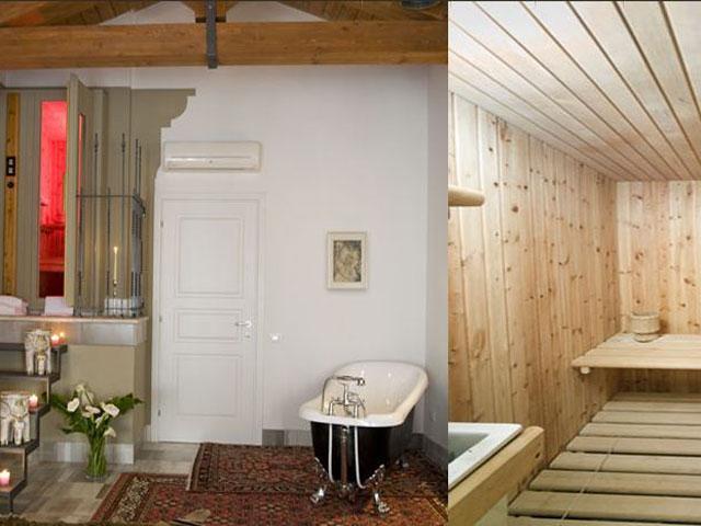 Sauna in de Regina Elena Suite - BB Cagliari