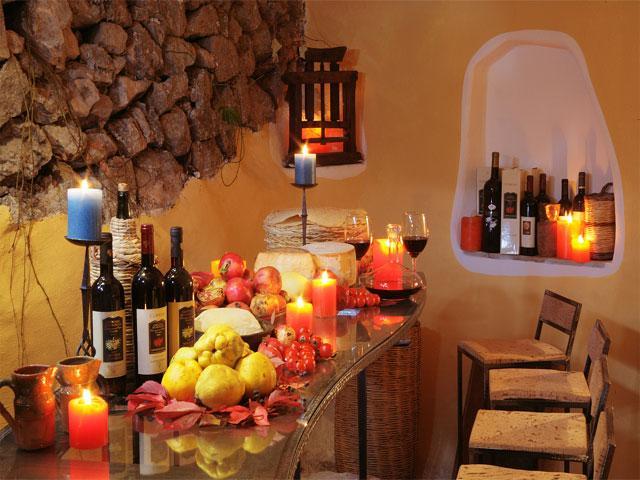 Winebar in hotel Su Gologone - Sardinie